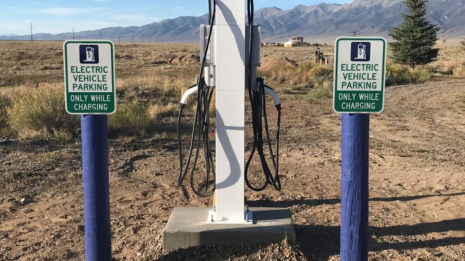 <h4>RECHARGE WHERE YOU RECHARGE</h4><h5>Coloradans should not have to choose between having an electric vehicle and visiting the parks they love. We need to make it easy to recharge our cars where we recharge our souls.</h5>